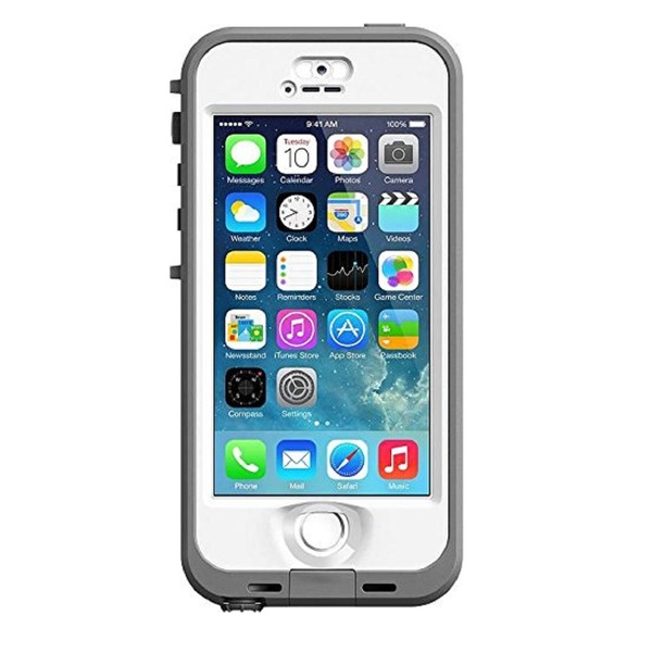 Apple iPhone 5/5s 16GB Unlocked GSM Phone Gray + LifeProof Nuud Case