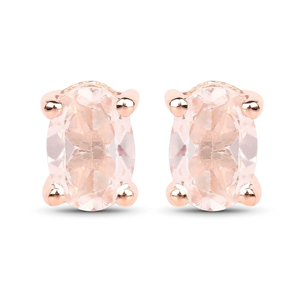 Malaika 18k Rose Goldplated Sterling Silver 7/8ct Morganite Earrings