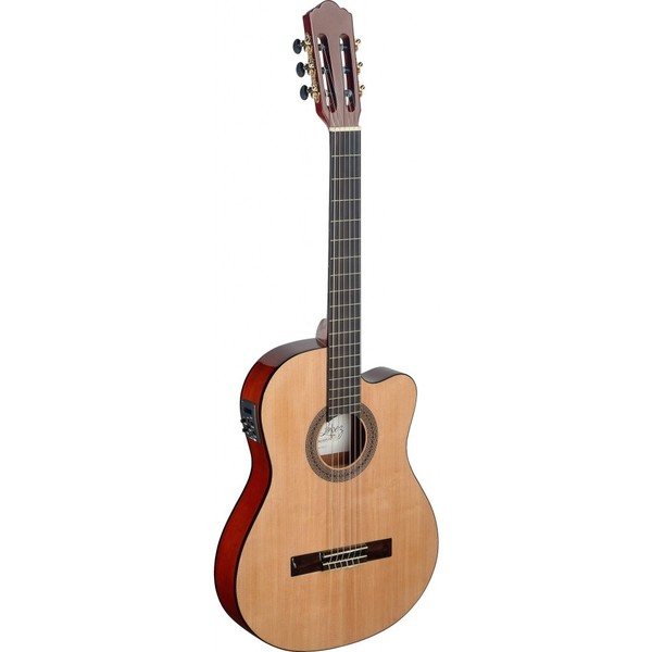 Angel Lopez Mencia Series Thin Body Cutaway Acoustic-electric Classical Guitar