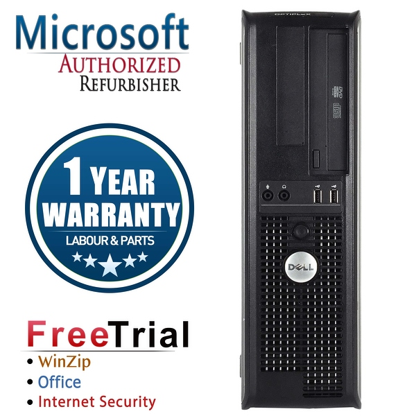 Refurbished Dell OptiPlex 780 Desktop Intel Core 2 Quad Q8200 2.33G 8G DDR2 320G DVDRW Win 7 Pro 64 Bits 1 Year Warranty