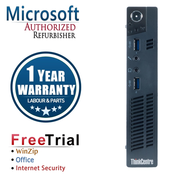 Refurbished Lenovo ThinkCentre M92P Tiny Intel Core I5 3470T 2.9G 4G DDR3 250G Win 7 Pro 1 Year Warranty - Black