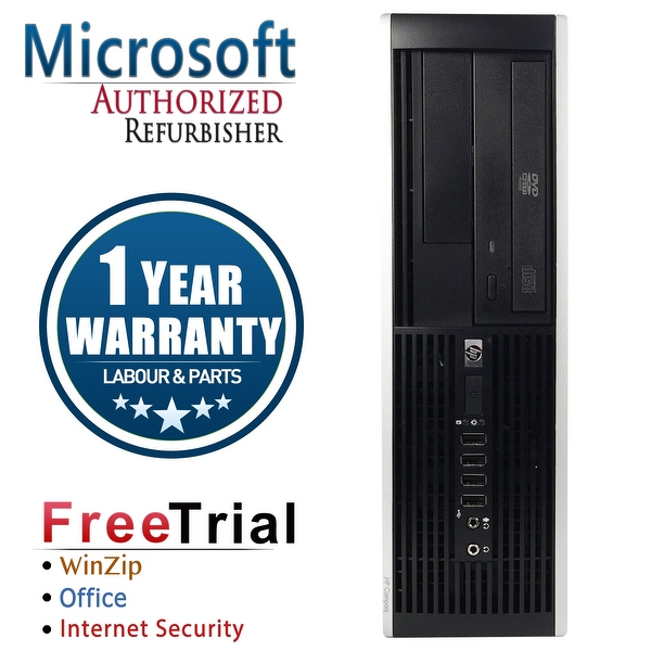 Refurbished HP Compaq Pro 6300 SFF Intel Core I3 3220 3.3G 16G DDR3 2TB DVD WIN 10 Pro 64 1 Year Warranty - Black