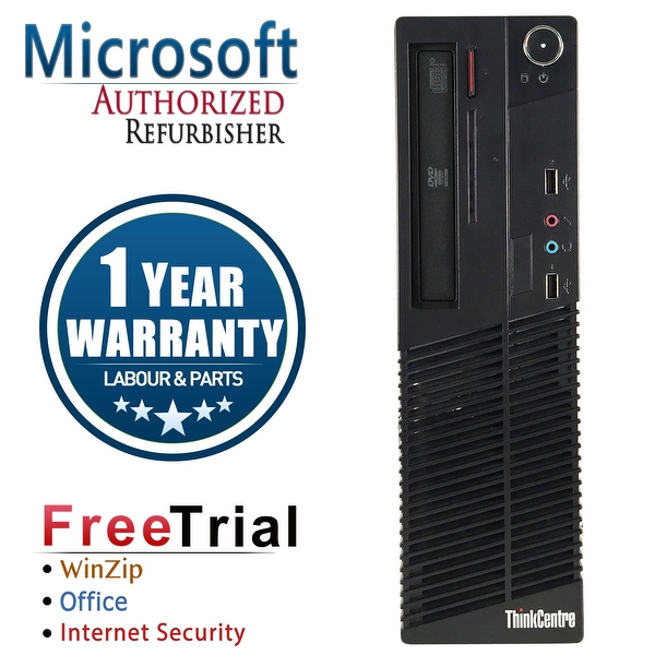 Refurbished Lenovo ThinkCentre M73 SFF Intel Core I5 4570 3.2G 8G DDR3 1TB DVD Win 10 Pro 1 Year Warranty - Black