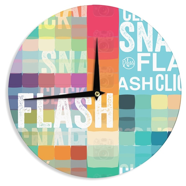 KESS InHouse KESS Original 'FLASH' Wall Clock