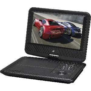 GPX PD901VPB Portable DVD Player - 9' Display - 800 x 480 - Black - DVD+RW, DVD-RW, CD-RW - DVD Video - 16:9 - CD-DA - 1 x Headphone Port(s) - Lithium Polymer (Li-Polymer) - 2 Hour