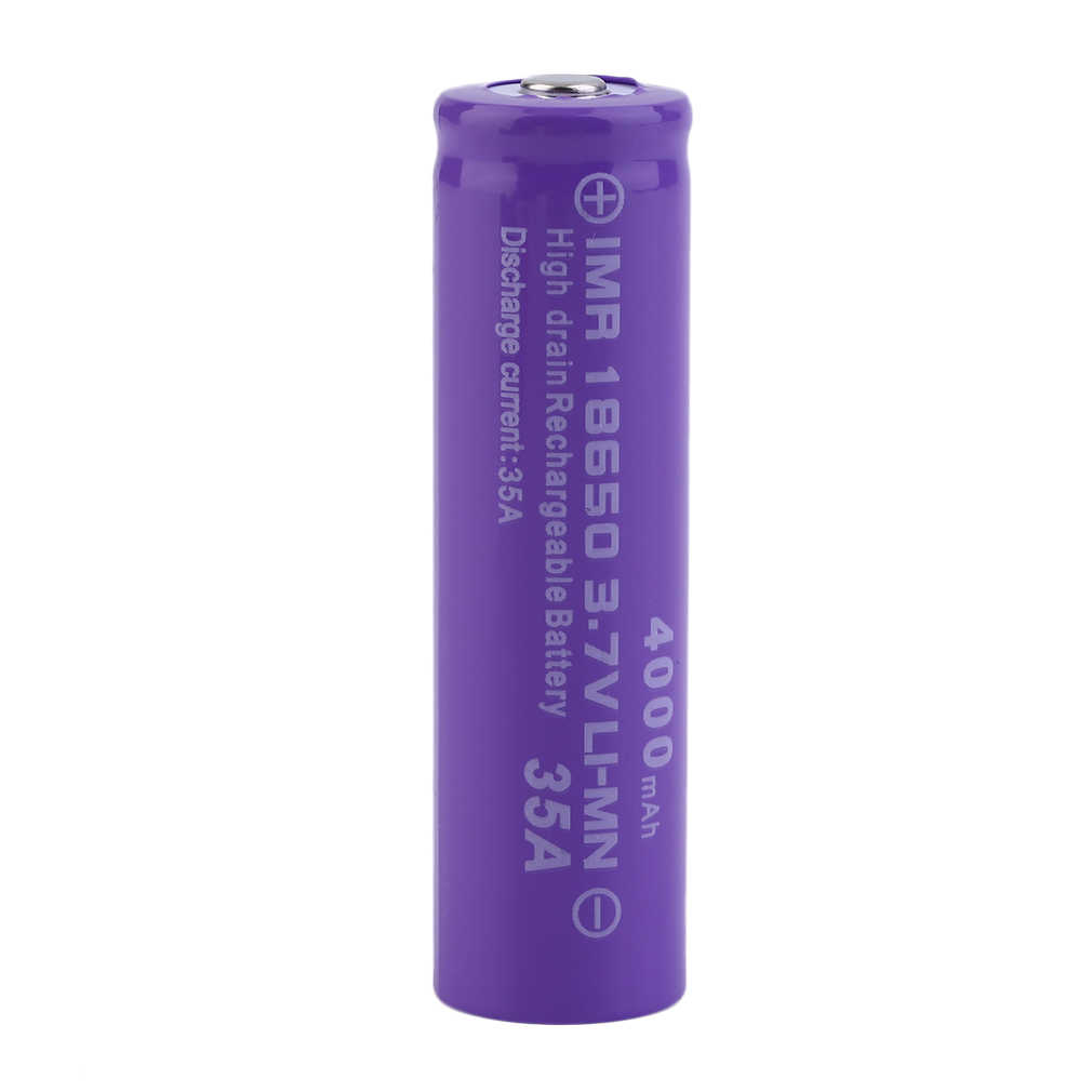 2pcs/set 4000MAH 18650 Rechargeable Batteries With Charger Purple