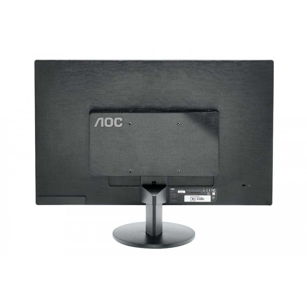 Refurbished 24' AOC DVI VGA Slim LED LCD Monitor 1080p Widescreen - Black - E2470SWD