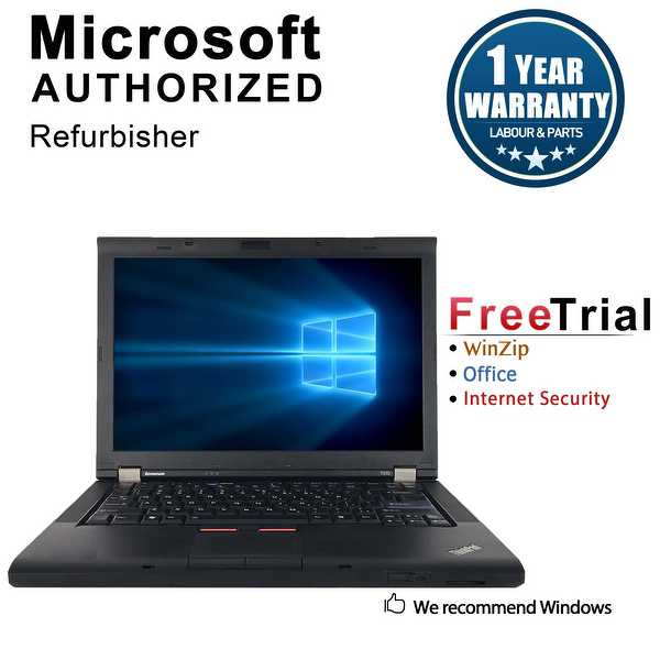 Refurbished Lenovo ThinkPad T410 14.1' Laptop Intel Core I5 520M 2.4G 4G DDR3 160G DVD Win 10 Professional 64 1 Year Warranty